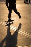 Man playing skateboard Royalty Free Stock Images