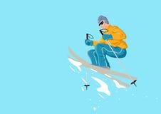 Man playing ski Royalty Free Stock Photos