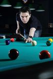 Man playing snooker. Royalty Free Stock Photo
