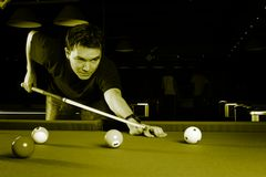Man playing snooker. Stock Images