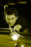 Man playing snooker. Stock Photos