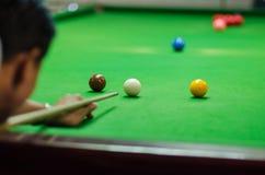 Man Playing Snooker Royalty Free Stock Image