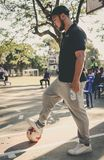 Man Playing Soccer Royalty Free Stock Image
