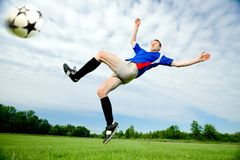 Man playing Soccer stock photography
