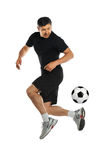 Man Playing With Soccer Ball Stock Photos