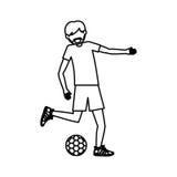 Man playing soccer design Royalty Free Stock Photo