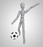 Man playing soccer on white background Stock Photography
