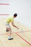 Man playing squash Royalty Free Stock Image