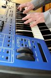 Man playing synthesizer Stock Photography