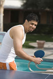 Man Playing Table Tennis Stock Photography