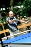 Man playing tabletennis Stock Image