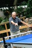 Man playing tabletennis Stock Photography