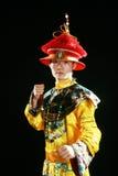 Man playing with taekwondo Royalty Free Stock Image