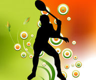 Man playing tennis Royalty Free Stock Images