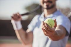 Man playing tennis Royalty Free Stock Photo