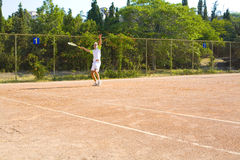 Man playing tennis Royalty Free Stock Photography