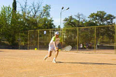 Man playing tennis Royalty Free Stock Photo