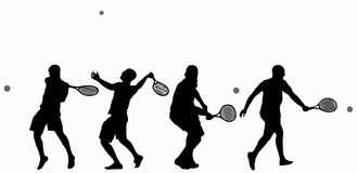 Man playing tennis Stock Images