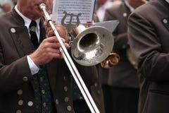 man playing a trombone Royalty Free Stock Photo