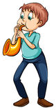 Man playing with the trumpet Stock Photos