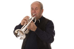 Man playing trumpet Stock Photography