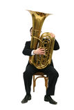 Man playing tuba Royalty Free Stock Photos