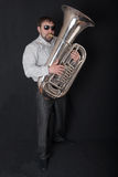 Man playing a tuba Royalty Free Stock Photos