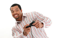 Man playing video game Stock Photography