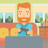 Man playing video game. Stock Photography