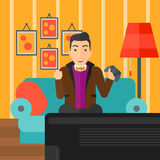 Man playing video game. Royalty Free Stock Images