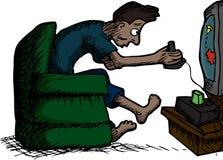 Man Playing Video Games Stock Photo