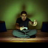 Man playing video  games Royalty Free Stock Images