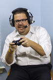 Man Playing Video Games Royalty Free Stock Image