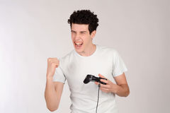 Man playing videogames. Royalty Free Stock Photography