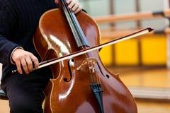 Man playing viola Royalty Free Stock Image