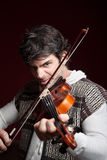 Man Playing Violin Stock Photography
