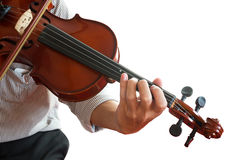 Man playing violin. Royalty Free Stock Photos