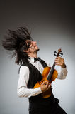 Man playing violin Royalty Free Stock Photo