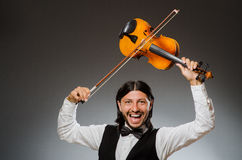 Man playing violin Stock Photos