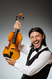 Man playing violin Stock Image