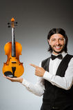 Man playing violin. The man playing violin in musical concept Royalty Free Stock Photos