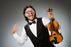 Man playing violin Stock Photo