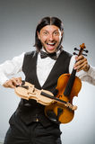 Man playing violin Royalty Free Stock Image