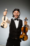 Man playing violin Royalty Free Stock Photography