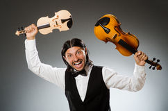 Man playing violin Royalty Free Stock Images