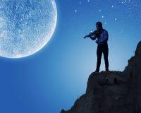 Man playing violin Royalty Free Stock Photos