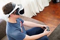 Man playing VR Royalty Free Stock Image