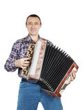 Man plays accordion Stock Photos