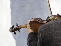 A Man plays a Beautiful Violin Royalty Free Stock Images