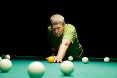 Man plays  billiards Royalty Free Stock Photography